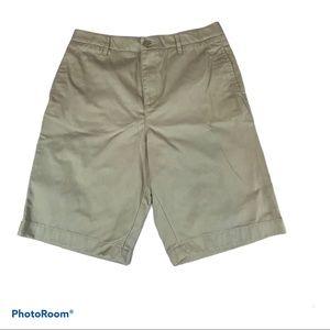 Lands End Uniform Shorts Girls Khaki Size 16
